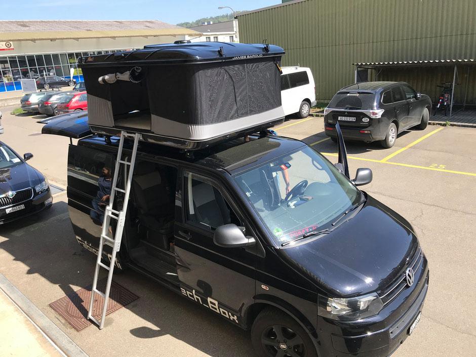 Die XXL Dachzlte von James Baroud passen super  auf alle grossen Vans.