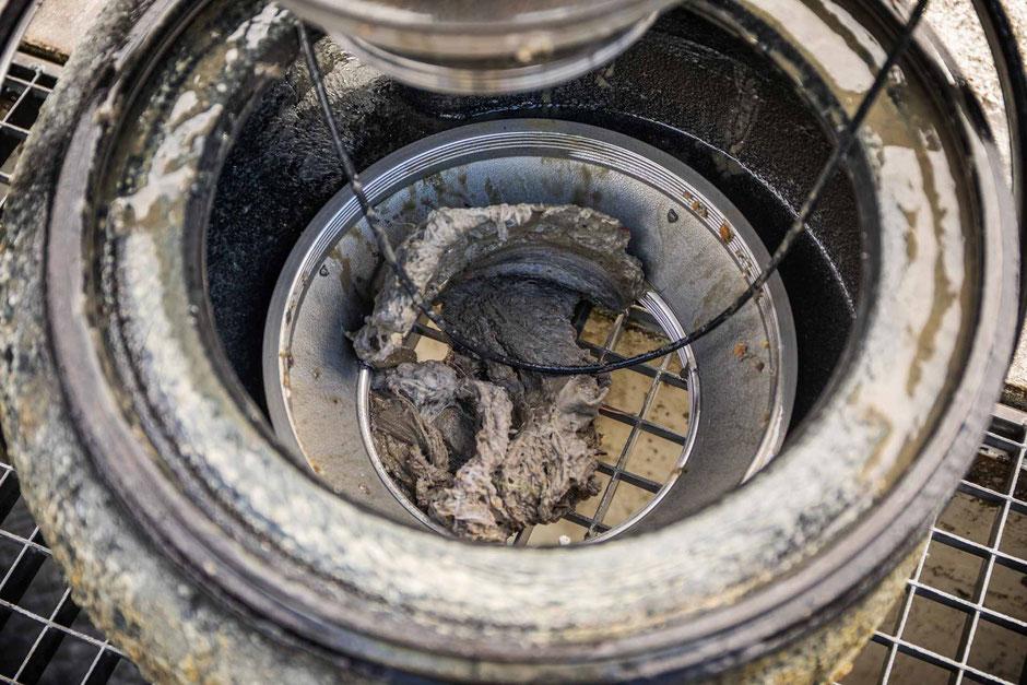 Verzopfung im Pumpengehäuse