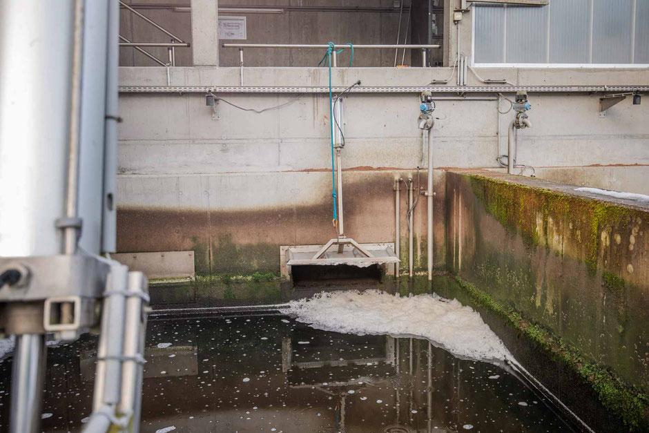 gesicherte Reinwasserklappe