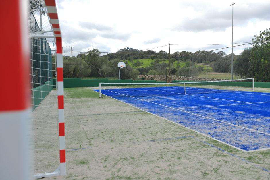 Tenis con Werner Schütz von Langsdorff en Mallorca