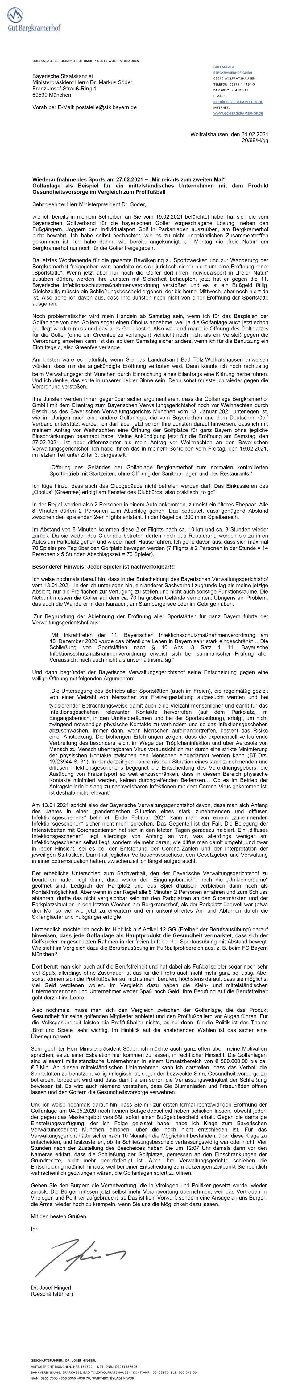 Brief Dr. Hingerl an Ministerpräsident Söder_24.02.2021