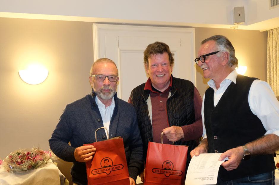 Auch auf dem Trepperl: Wolfgang Herzog und Gerd Sigl