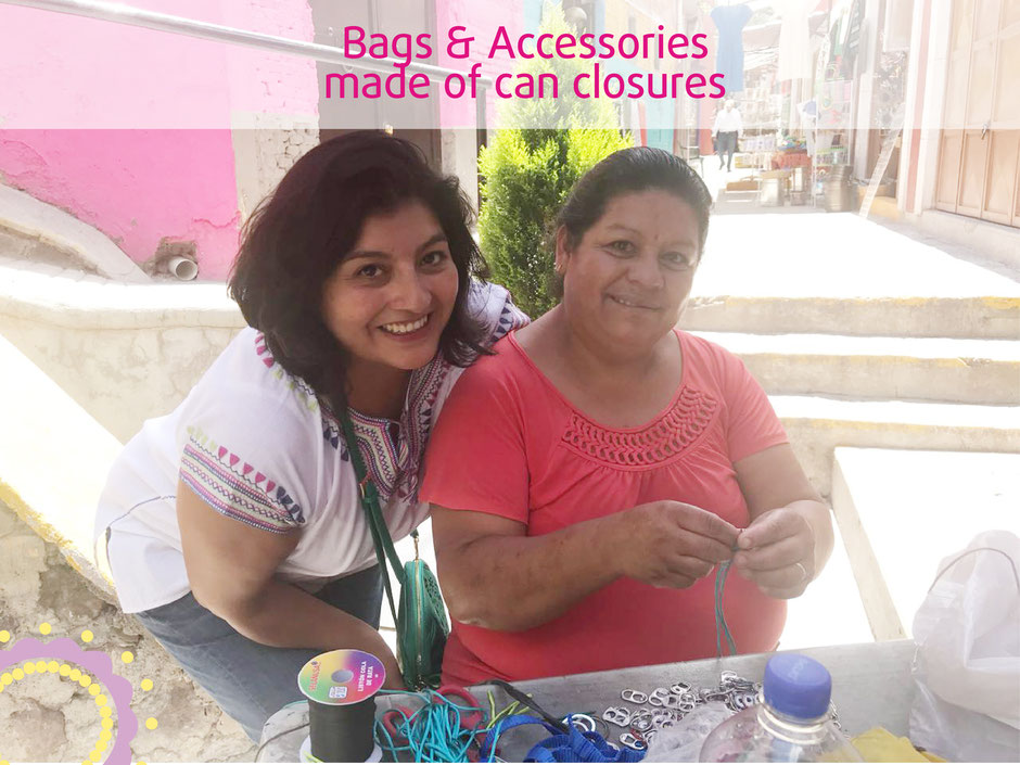 Bags and Accessories made of can closures