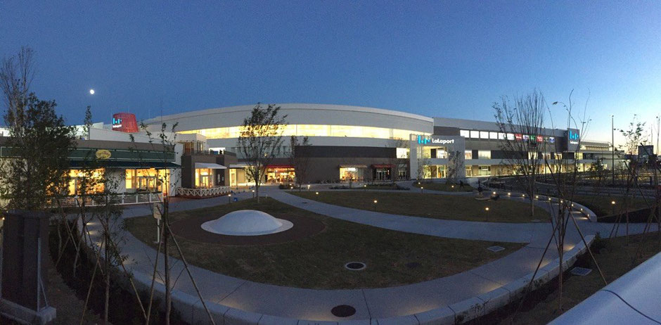 Panorama view of LaLaport Tachikawa Tachihi Shopping Mall Tokyo Tachikawa 250 stores shops restaurants leisure tourist spot TAMA Tourism Promotion - Visit TAMA ららぽーと立川立飛 パノラマ画像 東京都立川市 ショッピング 買い物 商業施設 レジャー 観光スポット 多摩観光振興会