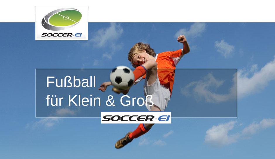 Soccer-Ei, der Fußballcourt für Klein und Groß