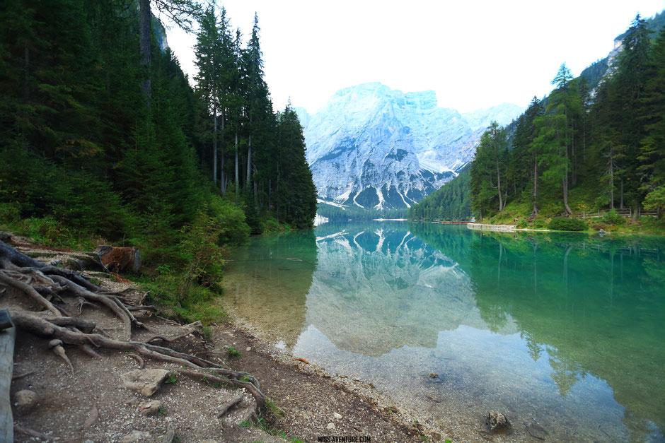 Le Lac de Braies, road trip dans les Dolomites (ITALIE) www.missaventure.com blog voyage d'aventures nature et photos