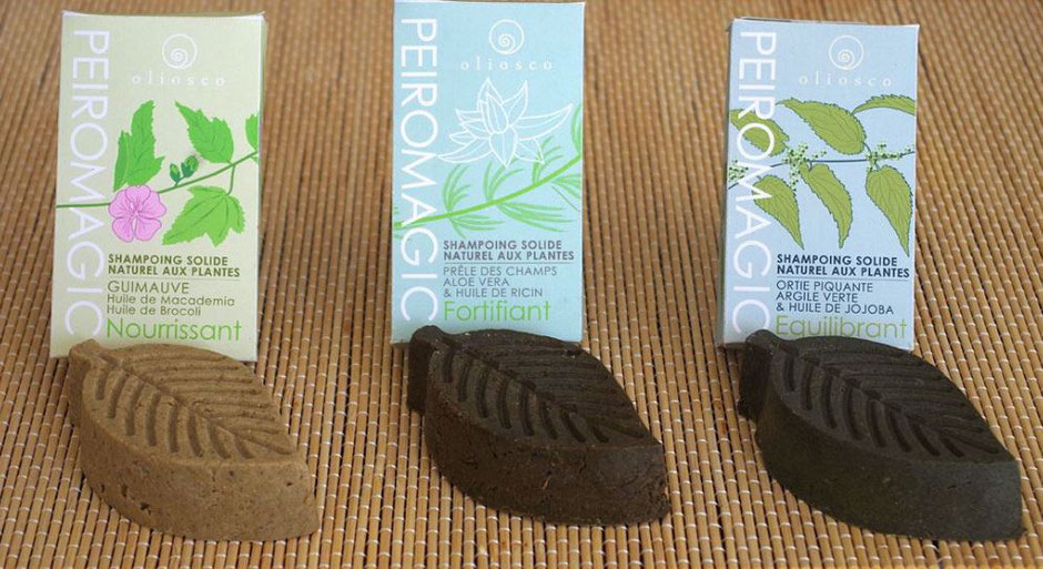 Les shampoings solides Oliosco. (photo du site)