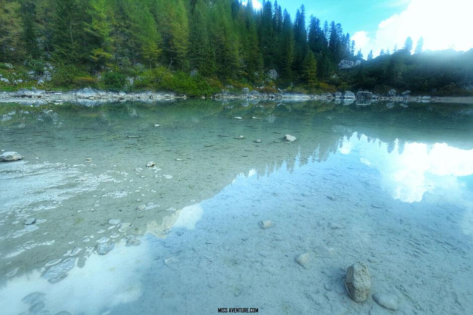 Lac de Sorapis, Road trip Dolomites (ITALIE) www.missaventure.com blog voyage d'aventures, nature et photos