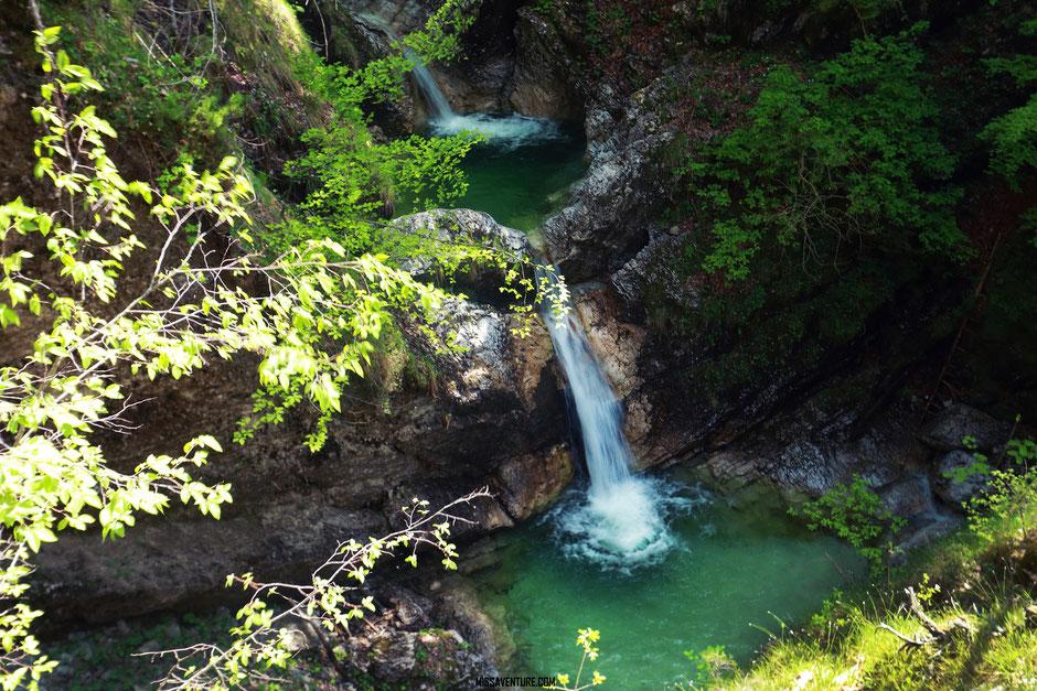 Les gorges de la Fratarica, cascade fratarica, ROAD TRIP SLOVÉNIE. www.missaventure.com blog voyage d'aventures, nature et photos