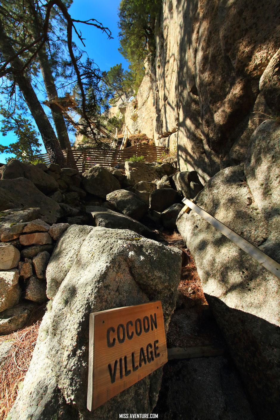 COCOON VILLAGE, logement insolite en CORSE. www.missaventure.com blog voyage d'aventures nature et photos. Road trip Corse du Nord au Sud