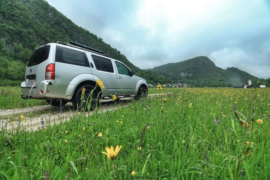 Sur la route pour le lac de Bohinj. Road trip en Slovenie. www.missaventure.com blog voyage d'aventure, nature et photos