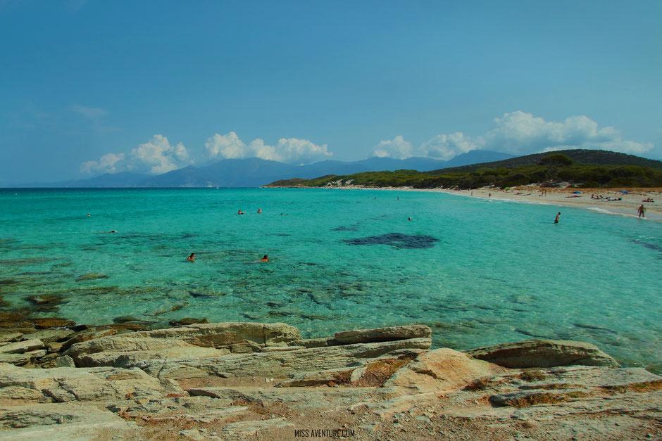 Plage de Saleccia, CORSE. www.missaventure.com. blog aventures nature et photos. Road Trip Corse du Nord au Sud