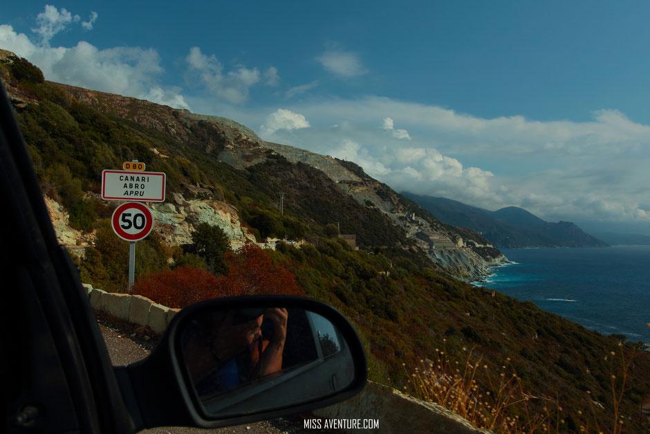 Canari, Usine d'amiante. Cap Corse. www.missaventure.com.blog aventure, nature et photos. road trip corse du nord au sud