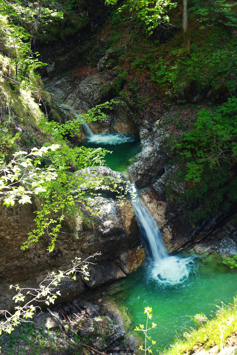 Les gorges et cascades de la Fratarica, ROAD TRIP SLOVÉNIE. www.missaventure.com blog voyage d'aventures, nature et photos