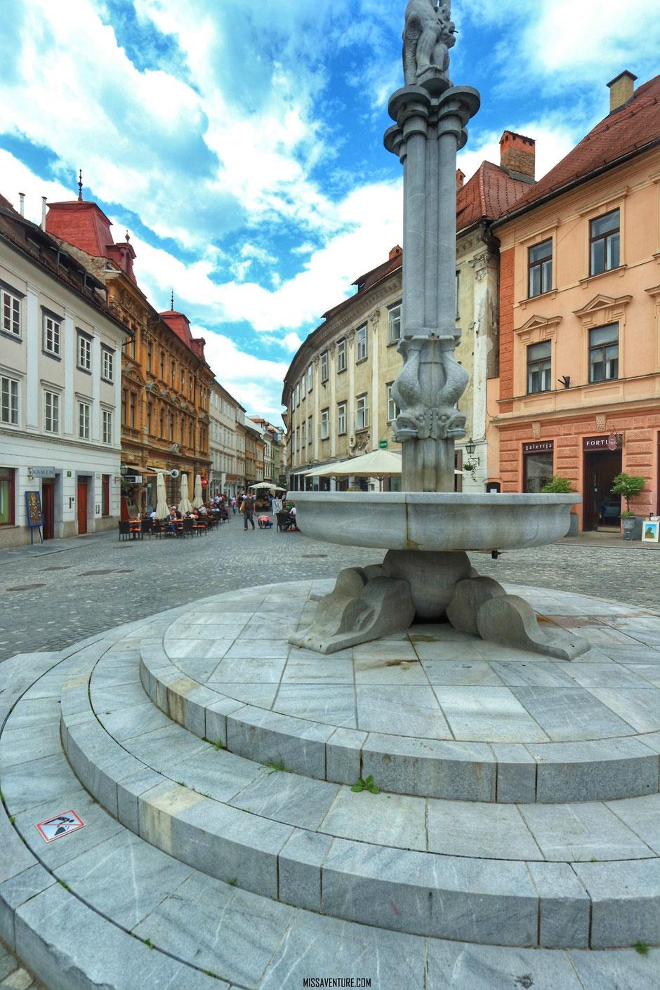 Le quartier historique, Ljubljana, SLOVÉNIE. www.missaventure.com blog voyage d'aventures, nature et photos. Road trip en Slovénie