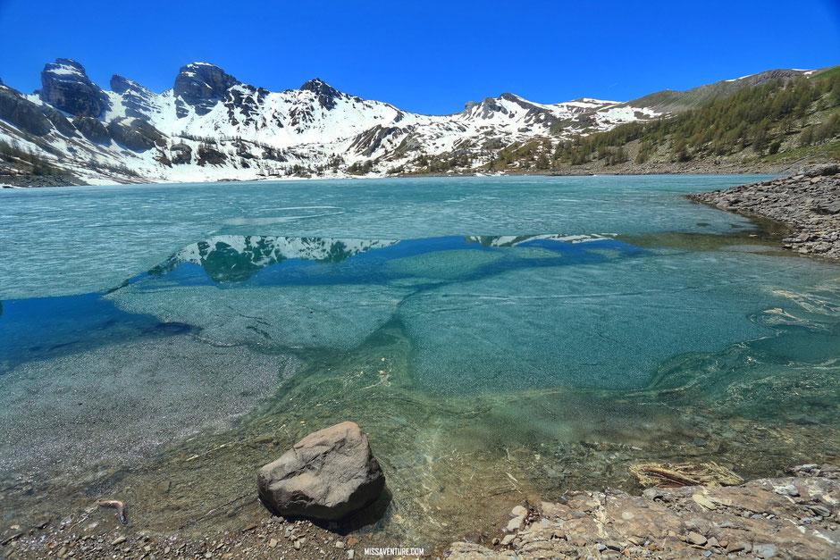Randonnée et bivouac dans le Mercantour, le lac d'allos. www.missaventure.com blog voyage d'aventures, nature et photos.
