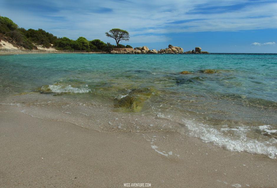 les plages du Sud, CORSE Palombaggia. www.missaventure.com blog voyage d'aventures nature et photos, Road Trip Corse du Nord au Sud.