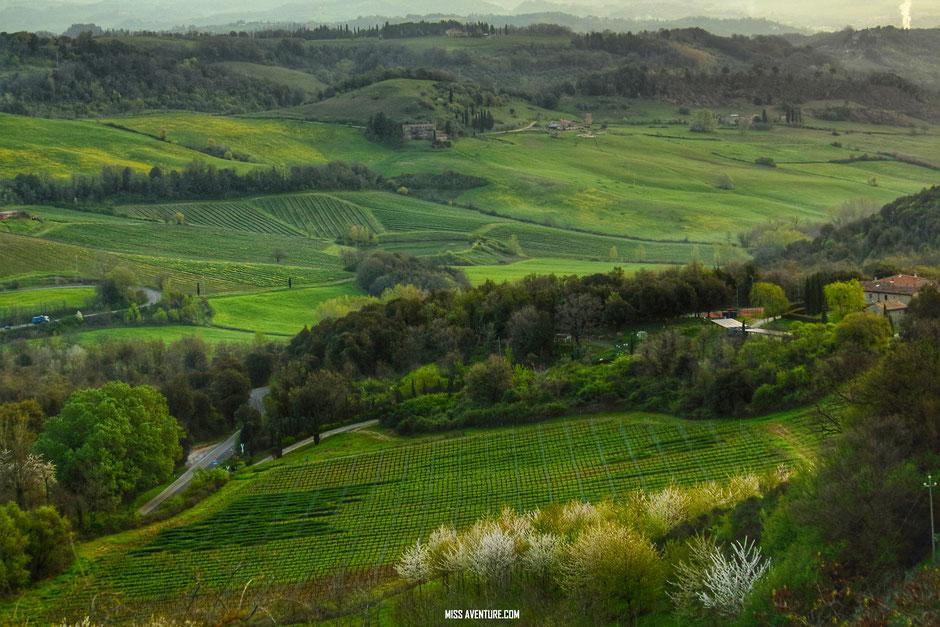 Road trip en Toscane, les paysages de campagne (ITALIE)/ www.missaventure.com. blog voyage d'aventures, nature et photos
