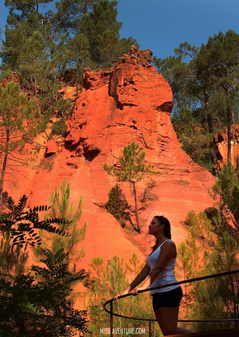 sentier des Ocres, Roussillon. VAUCLUSE. www.missaventure.com. blog aventures, nature et photos