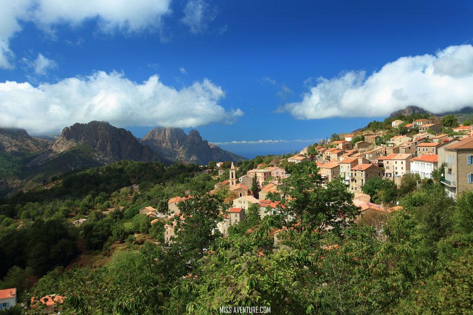 Evisa, CORSE. www.missaventure.com. blog voyage d'aventures nature et photo. Road Trip Corse du Nord au Sud