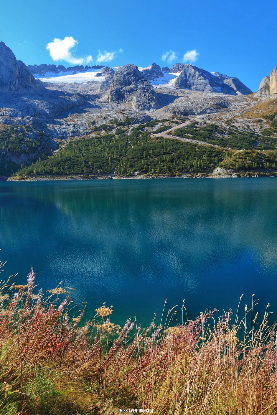 Road trip dans les Dolomites (ITALIE), Marmolada. www.missaventure.com blog voyage d'aventures nature et photos