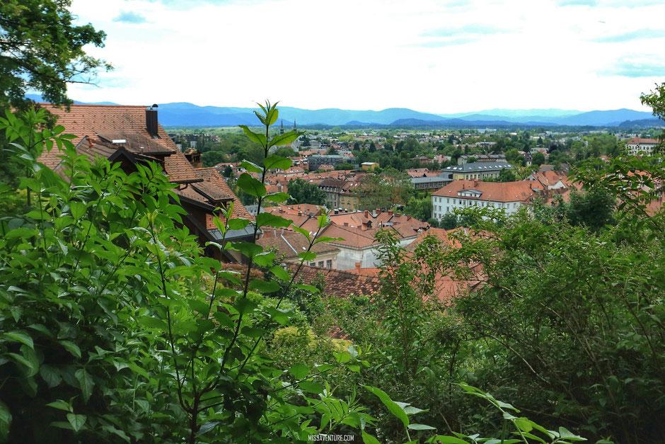 Le château de Ljubljana, SLOVÉNIE. www.missaventure.com blog voyage d'aventures, nature et photos. Road trip en Slovénie