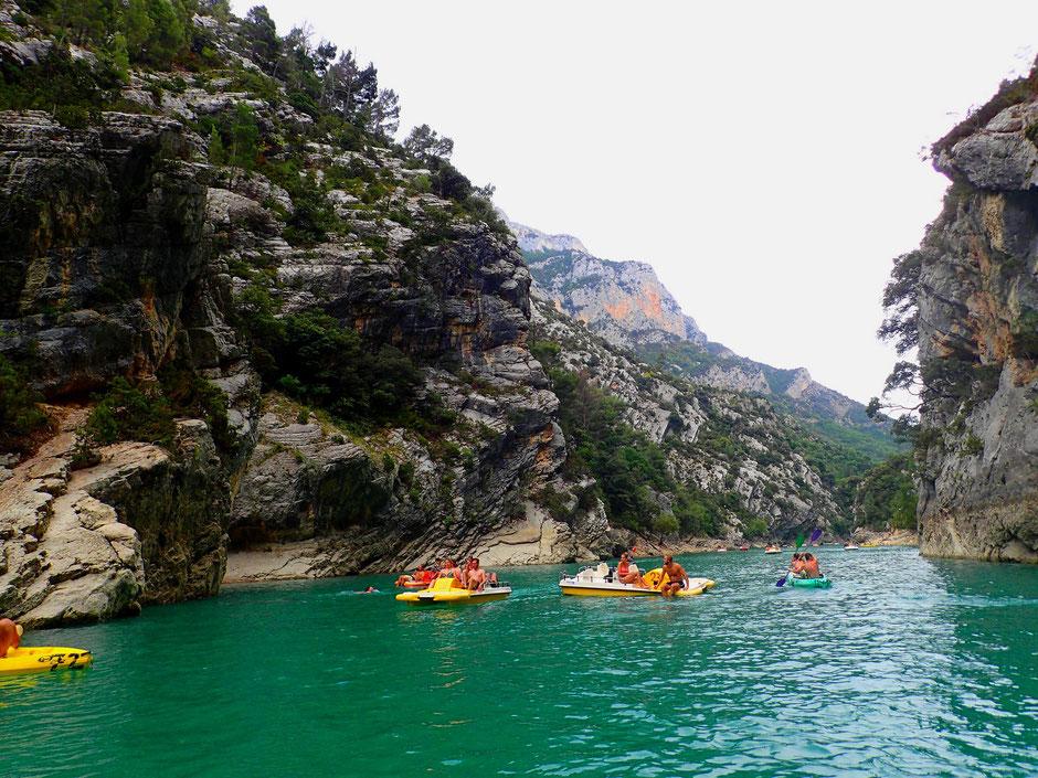 balade en pedalo dans les Gorges du Verdon, VERDON (FRANCE) missaventure blog