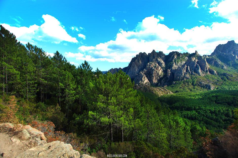 Bavella, CORSE. www.missaventure.com blog voyage d'aventures nature et photos. Road trip corse du nord au sud