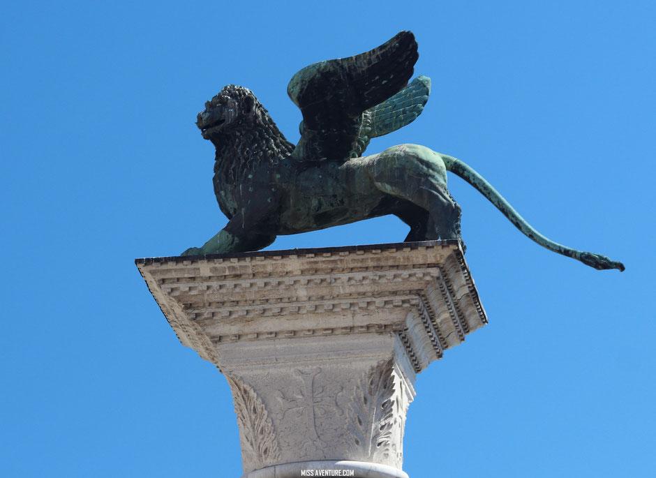 Le lion véritable symbole de Venise.