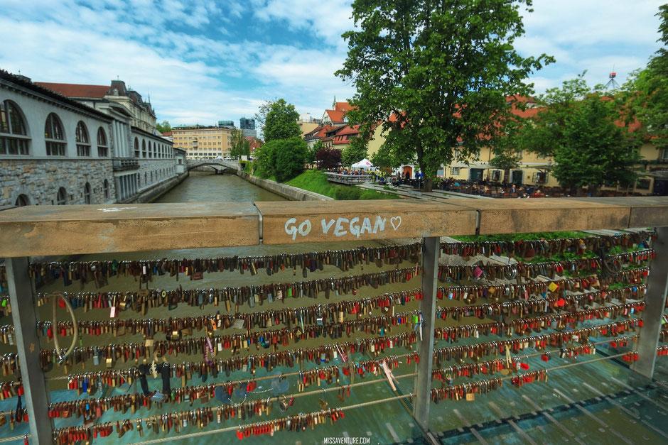 Le pont des boucher, ou pont des amours de Ljubljana, SLOVÉNIE. www.missaventure.com blog voyage d'aventures, nature et photos. Road trip en Slovénie