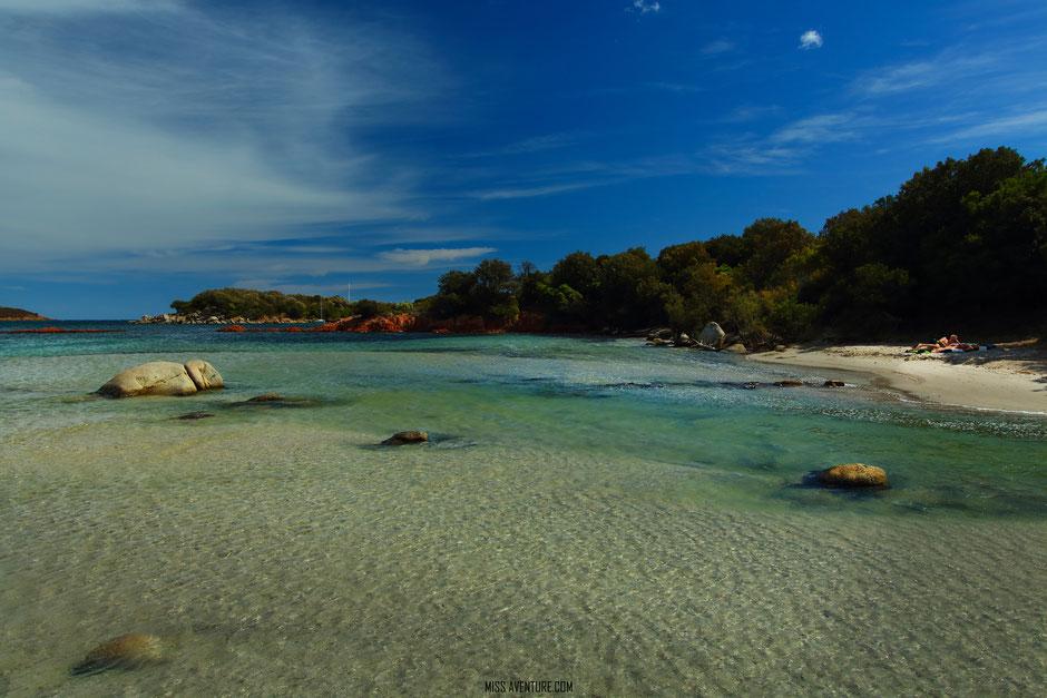 les plages du Sud, CORSE St Cyprien. www.missaventure.com blog voyage d'aventures nature et photos, Road Trip Corse du Nord au Sud.