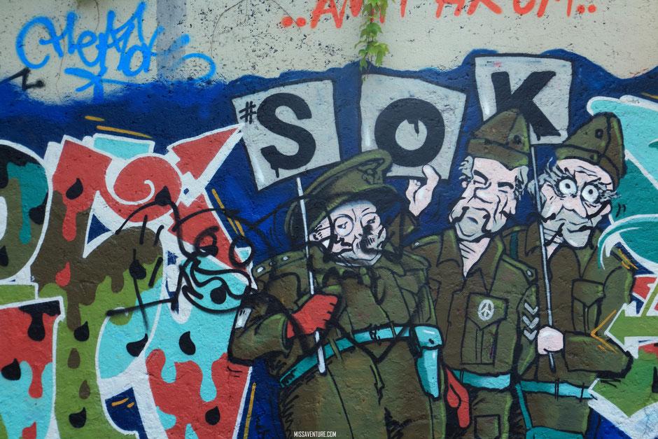 Metelkova, le quartier insolite et artistique de Ljubljana,  SLOVÉNIE. www.missaventure.com blog voyage d'aventures, nature et photos. Road trip en Slovénie