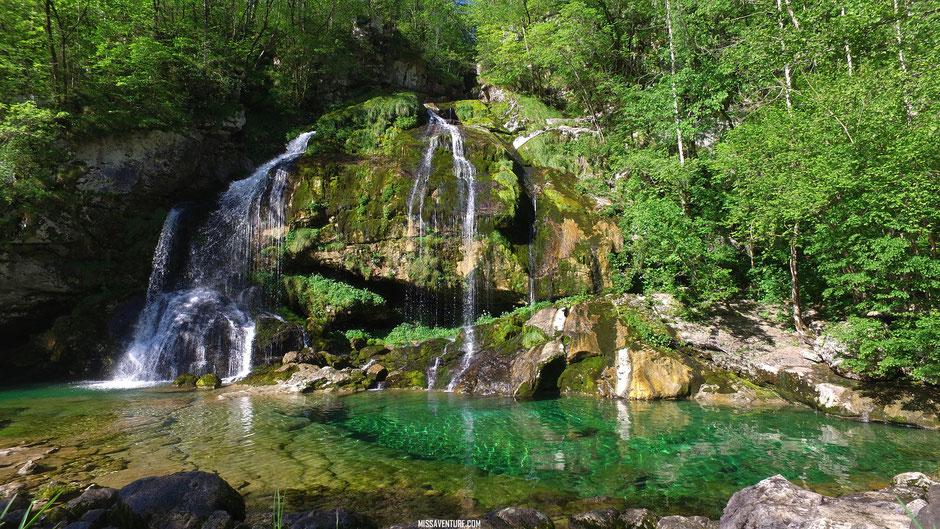 La cascade Virje, SLOVÉNIE. www.missaventure.com blog voyage d'aventure, nature et photos, ROAD TRIP EN SLOVÉNIE.