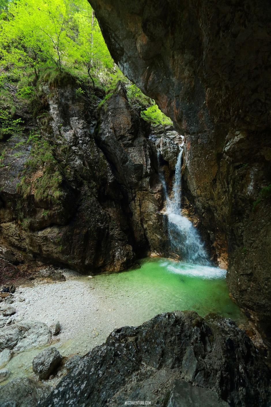 Les gorges de la Fratarica, slap Katedrala. ROAD TRIP SLOVÉNIE. www.missaventure.com blog voyage d'aventures, nature et photos