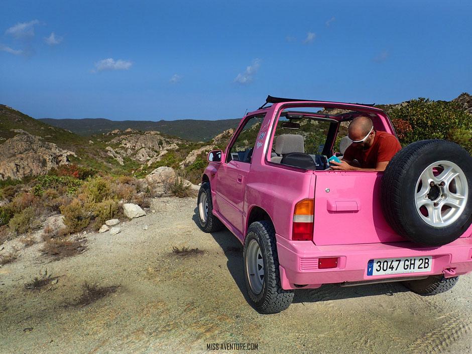 DESERT DES AGRIATES EN 4X4. www.missaventure.com. blog aventures nature et photos. Road Trip Corse du Nord au Sud