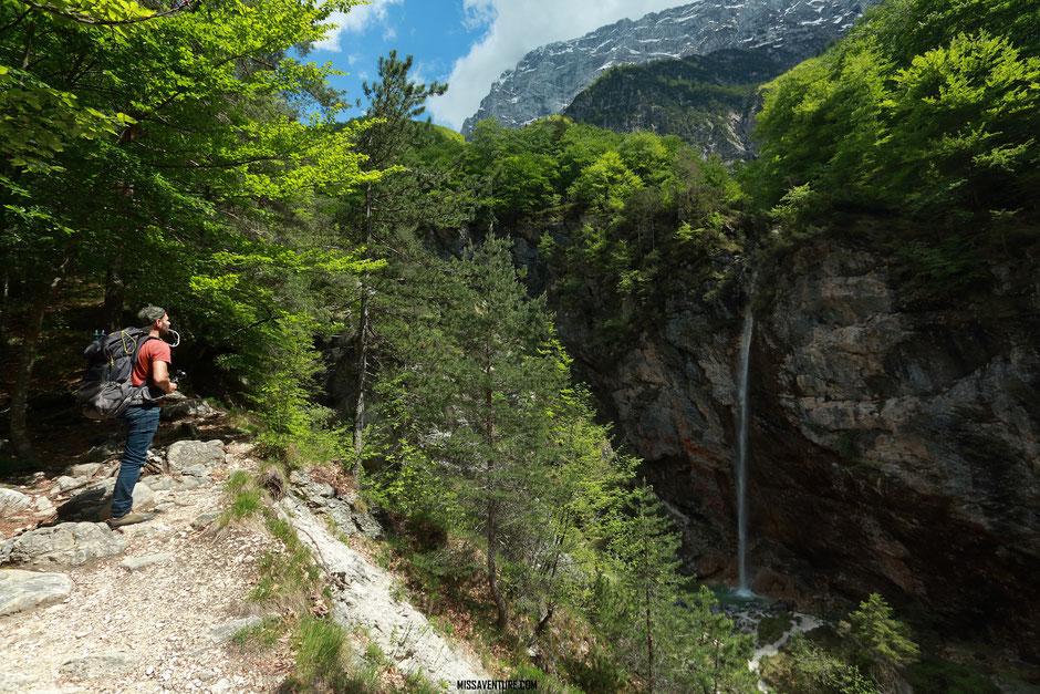 Les gorges de la Fratarica, slap Parabola. ROAD TRIP SLOVÉNIE. www.missaventure.com blog voyage d'aventures, nature et photos