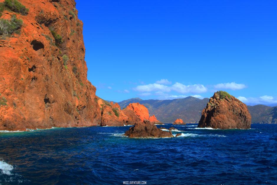 Réserve de Scandola, Golf de Porto. CORSE. www.missaventure.com blog voyage d'aventures nature et photos. Road Trip Corse