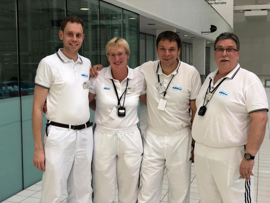 v. l. n. r. Marco Zimmermann, Astrid Hegemann, Manuel Martin und Joachim Bürger / Foto: Oliver Großmann