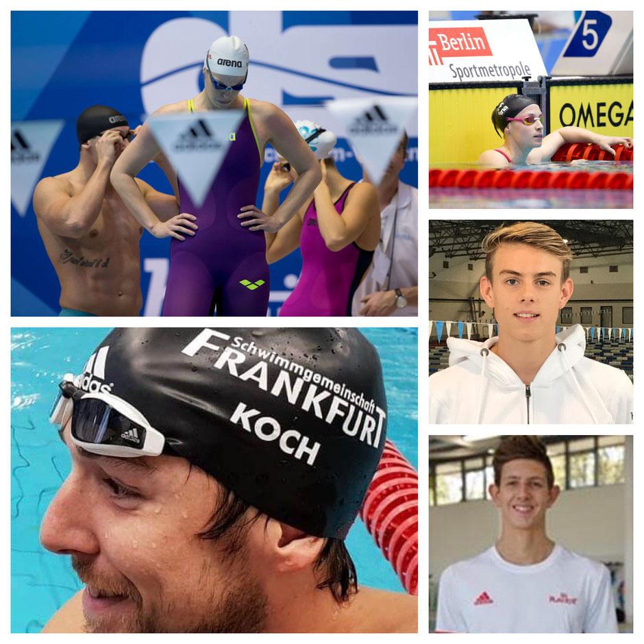 Jenny Mensing, Marco Koch, Reva Foos, Danny Schmidt und Lucas Matzerath / Bilder: M. Seifert / SG Frankfurt