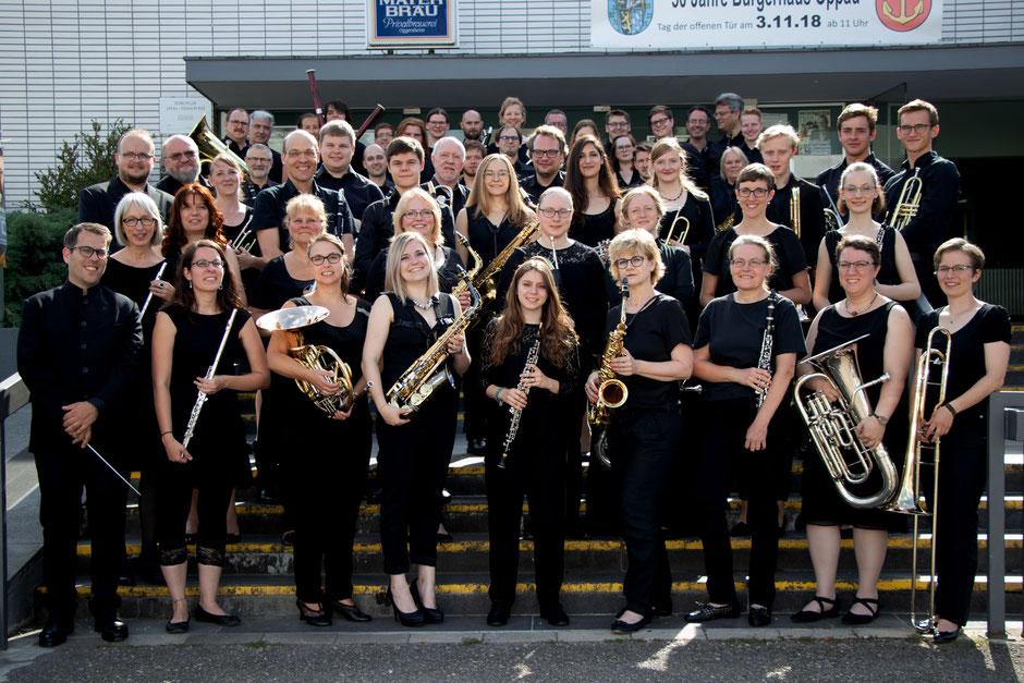 Das Moderne Blasorchester Oppau beim Jahreskonzert 2019 (Bildrechte: MBO)