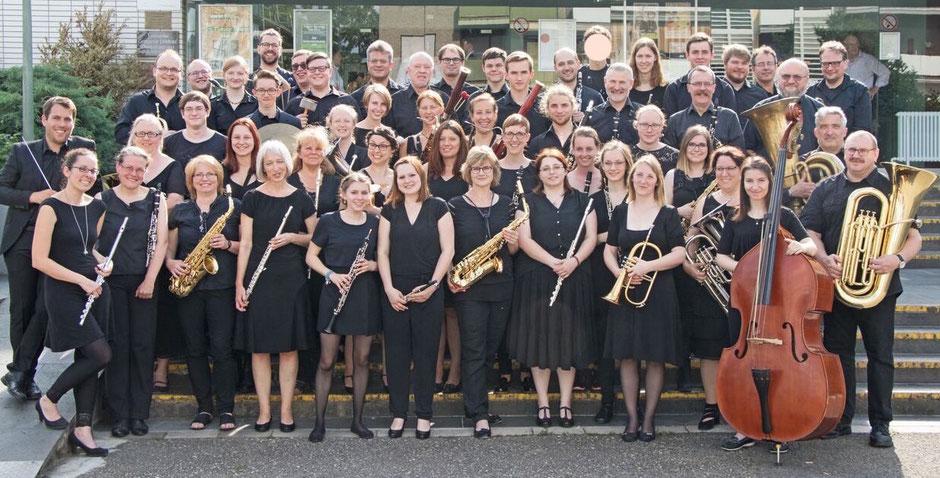 Das Moderne Blasorchester Kurpfalz-Oppau vor dem Jahreskonzert 2018 (Foto: MBO)