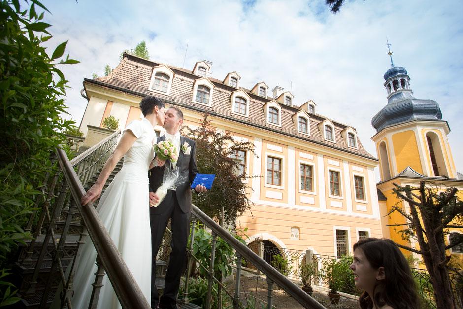 Hochzeit im Landschloss Zuschendorf, heiraten in Zuschendorf, Hochzeitsfotograf Zuschendorf, Hochzeitsfotograf Dresden
