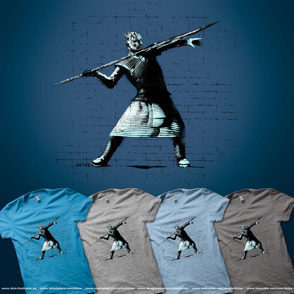 Ice spear throw camiseta t-shirt