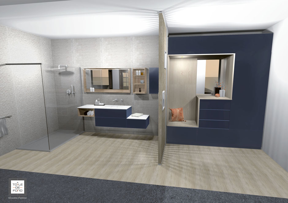 Espace salle de bain et placard CASEO TERVILLE