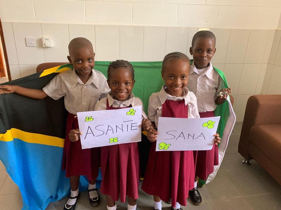 Ein herzlicher Dank von den Kinder an alle Spender.