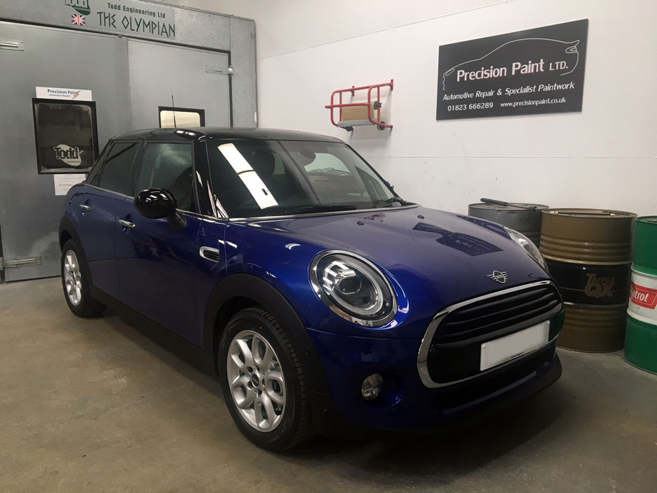 Mini After Customisation | Precision Paint | Wellington Somerset
