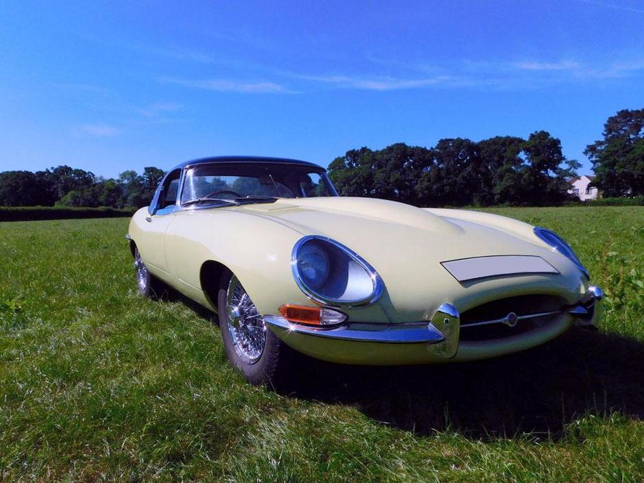 Jaguar E-Type Full Body Respray - The finished article   Precision Paint Wellington