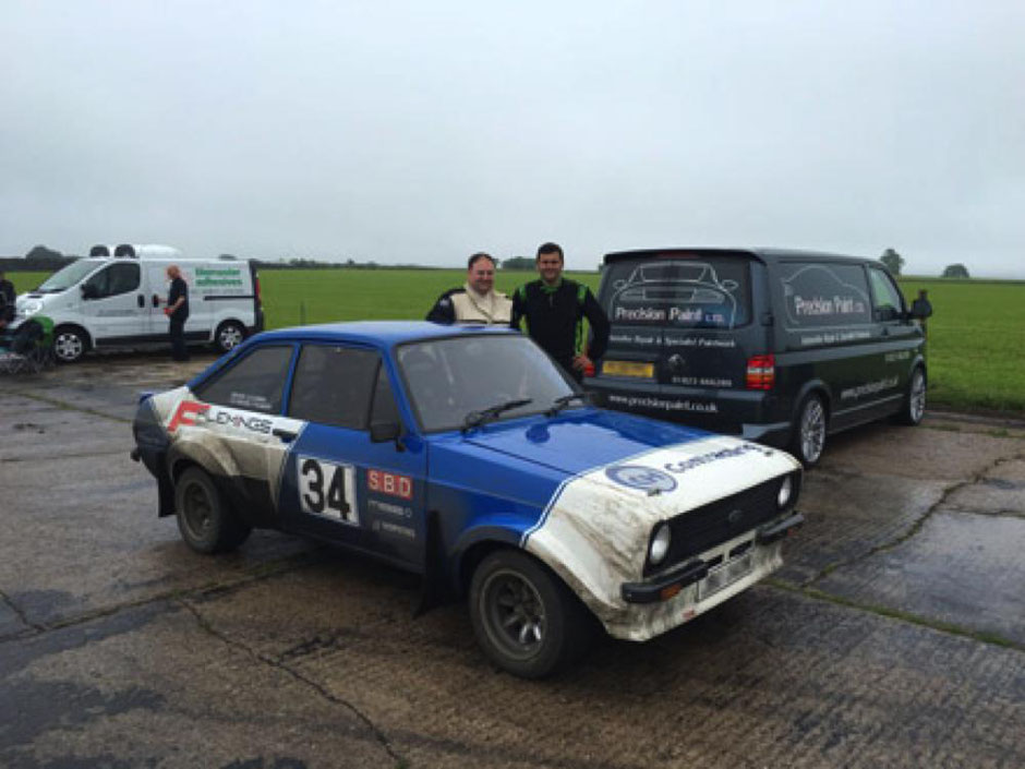 Mk II  Escort Rally Car, Pre-Season Preparation, Precision Paint, Wellington, Somerset