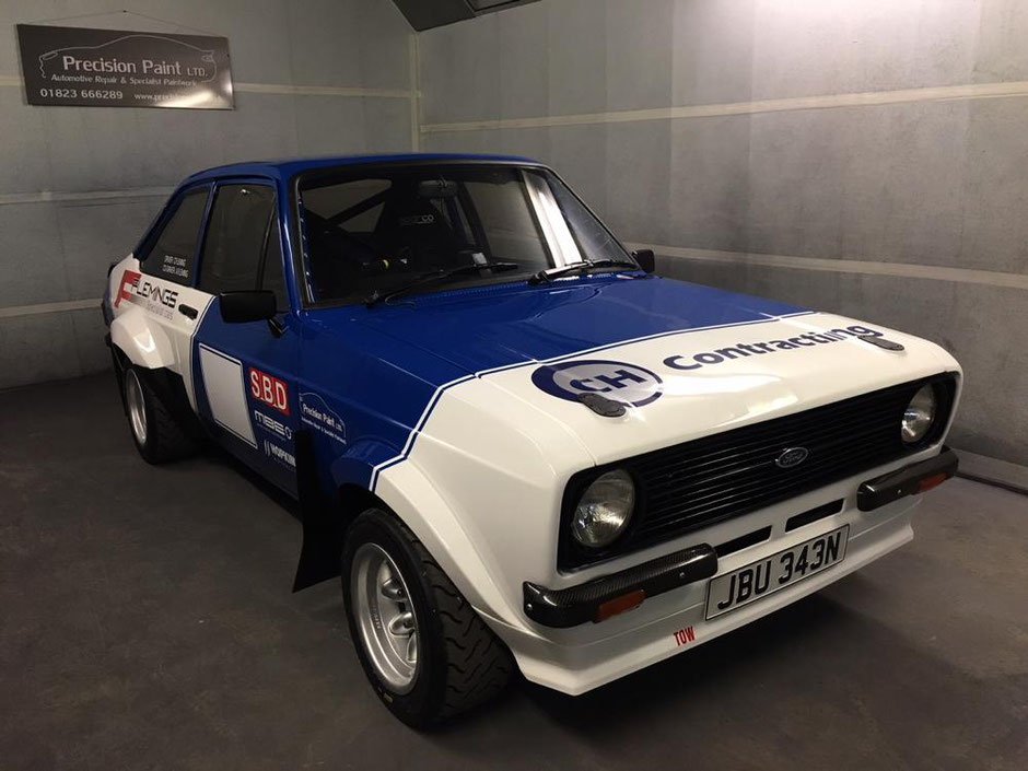 Finished Ford Escort Mk2 Rally Car | Precision Paint | Wellington