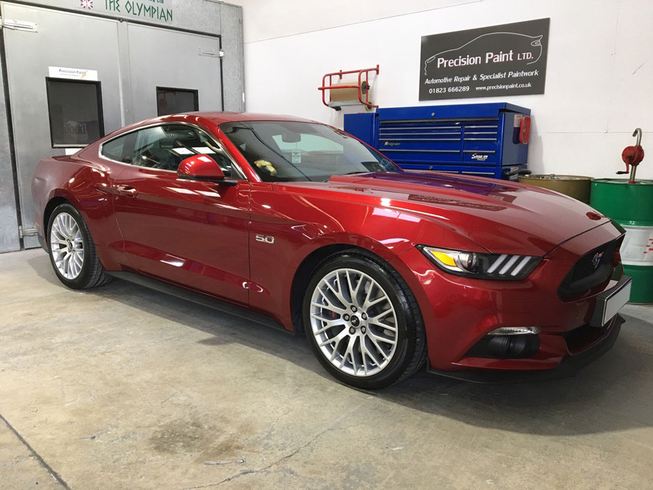 Candy Red Ford Mustang GT - the finished job by Precision Paint, Wellington